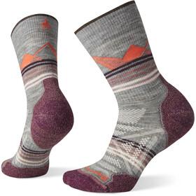 Smartwool PhD Outdoor Light Pattern Crew sokker Damer, grå/violet